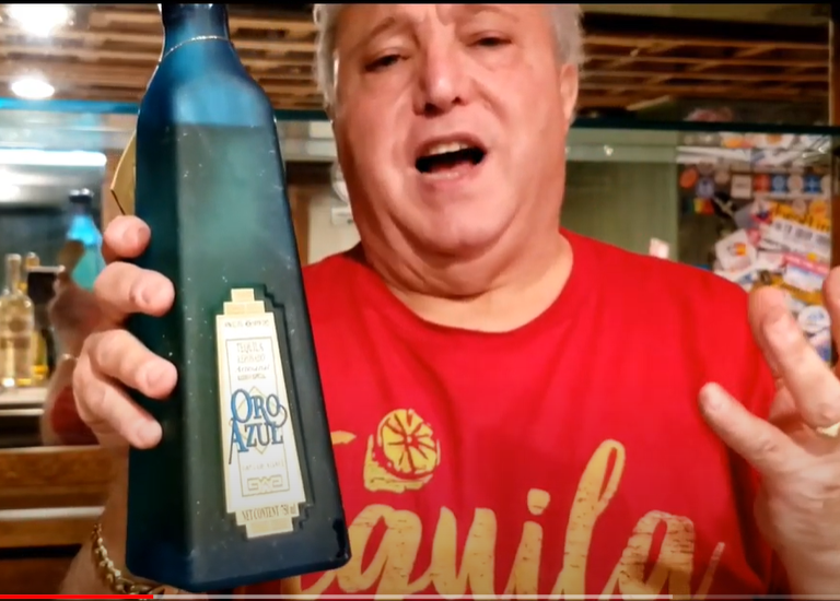 LOU AGAVE OF LONG ISLAND LOU TEQUILA - 'You Can't Take It With You' - Oro Azul NOM 1079 'refrigerator' Reposado