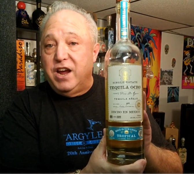 Lou Agave of Long Island Lou Tequila -Tequila Ocho Barrel Select 'Tropical' Anejo - Rum Influenced Splender